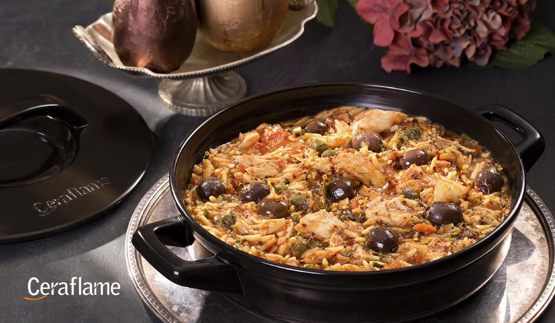 Gastronomia - uma panela com comida